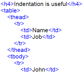 Bad HTML Code Indentations
